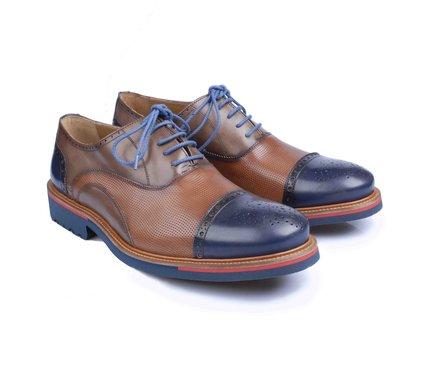 d86e8522f7c Pánské kožené boty typu brogue Angel Infantes Nestor Rustic Azul ...
