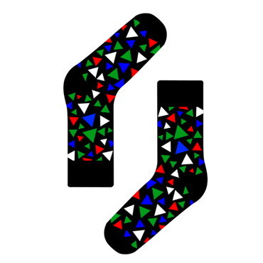 84a3e46cfe4 Pánské barevné ponožky s trojúhelníky Galant Socks
